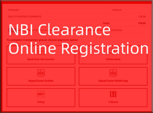 How can I register for NBI clearance online?