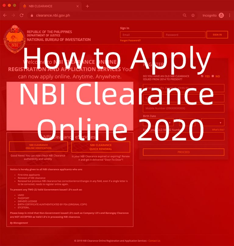 How to Apply NBI Clearance Online for 2021