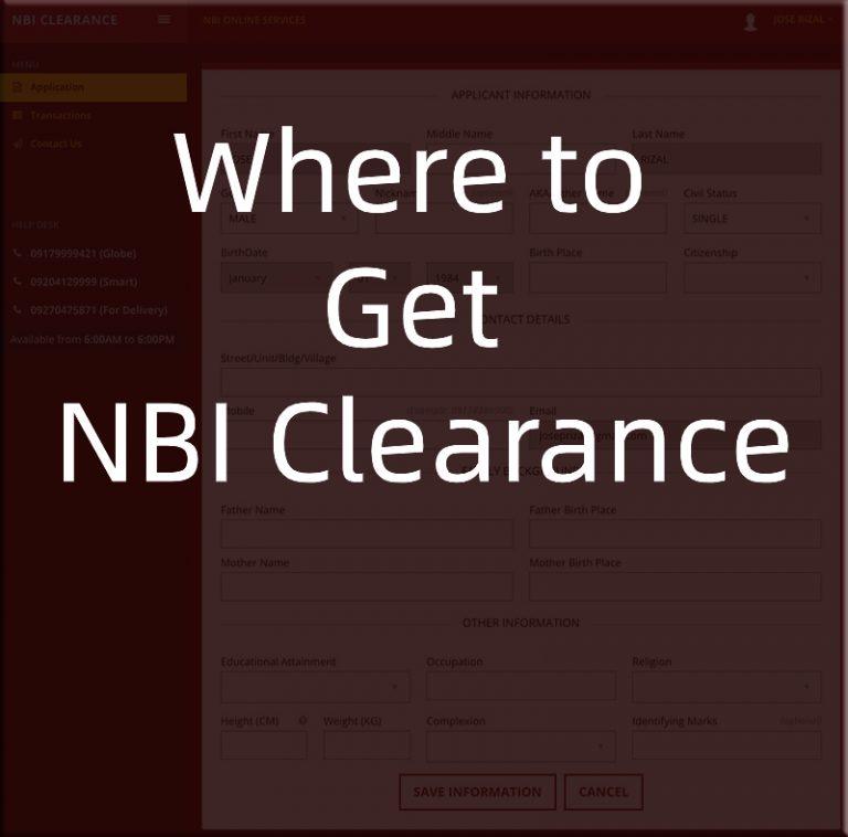 Where to Get NBI Clearance?