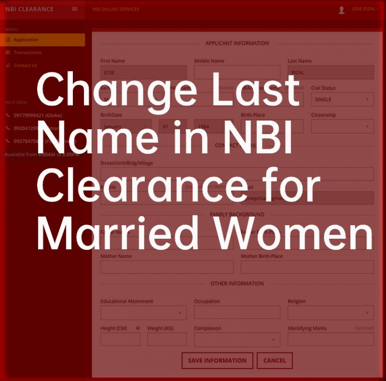 How to Change the Last Name in NBI Clearance for Married Women