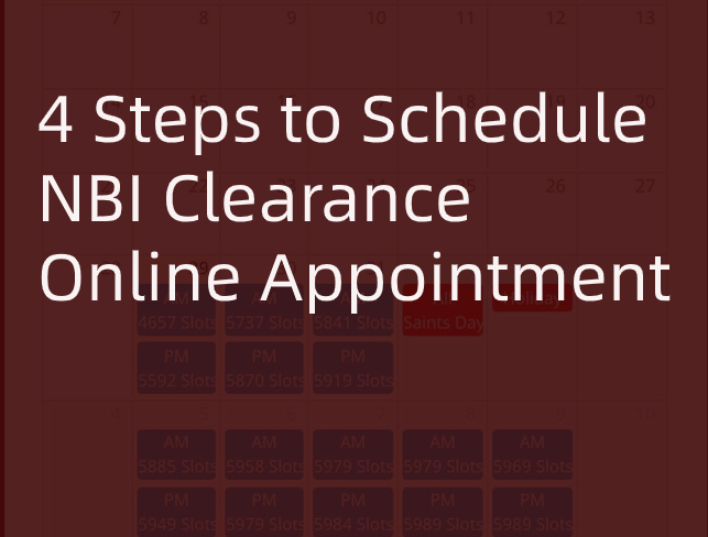 How to Schedule an Appointment in NBI Clearance Website
