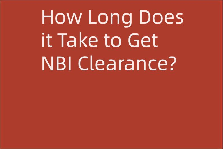 How Long Does it Take to Get NBI Clearance?